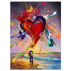"Jim Warren, ""Love is in the Air"" Hand Signed, Artist Embellished AP Limited Edition Giclee on Canvas"
