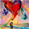 """Image 2 : Jim Warren, """"Love is in the Air"""" Hand Signed, Artist Embellished AP Limited Edition Giclee on Canvas"""