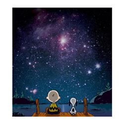 "Peanuts, ""Stars"" Hand Numbered Canvas (40""x44"") Limited Edition Fine Art Print with Certificate of A"