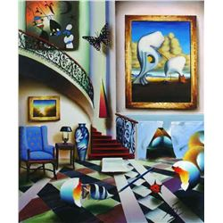 "Ferjo ""SURREALIST STAIRWAY"" Giclee on Canvas"