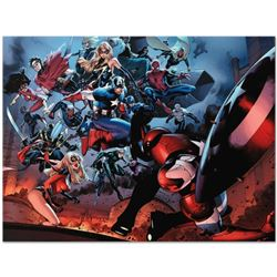 "Marvel Comics ""Siege #3"" Numbered Limited Edition Giclee on Canvas by Oliver Coipel with COA."