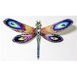 "Patricia Govezensky- Original Painting on Cutout Steel ""Dragonfly XXVIII"""