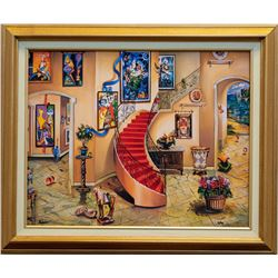 "Alexander Astahov- Original Giclee on Canvas ""Chagall View"""