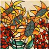"""Image 2 : Avi Ben-Simhon, """"Sunflowers"""" Limited Edition Serigraph, Numbered and Hand Signed with Certificate of"""