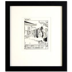 "Bizarro! ""Up Yours"" is a Framed Original Pen & Ink Drawing by Dan Piraro, Hand Signed by the Artist"