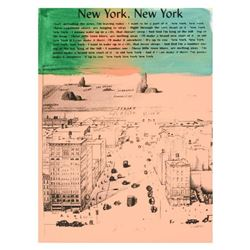 "Ringo Daniel Funes (Protege of Andy Warhol's Apprentice, Steve Kaufman), ""New York, New York"" One-of"
