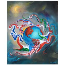 "Jim Warren, ""Come Together"" Hand Signed, Artist Embellished AP Limited Edition Giclee on Canvas with"