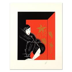 "Erte (1892-1990), ""Furs"" Limited Edition Serigraph, Numbered and Hand Signed with Certificate of Aut"