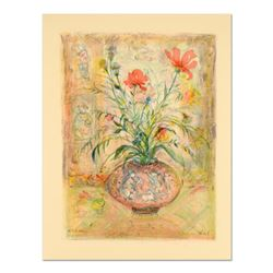 "Edna Hibel (1917-2014), ""Thistle Rose and a Day Lily"" Limited Edition Lithograph, Numbered and Hand"