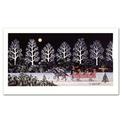 """Trail Creek Sleigh Ride"" Limited Edition Lithograph by Jane Wooster Scott, Numbered and Hand Signed"