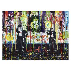 "Nastya Rovenskaya- Mixed Media ""Chaplin and Hardy"""