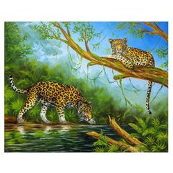 "Vera V. Goncharenko- Original Oil on Canvas ""Hunt"""