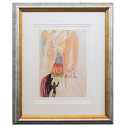 "Salvador Dali- Original Color Woodcut on B.F.K. Rives Paper ""Paradise 23"""