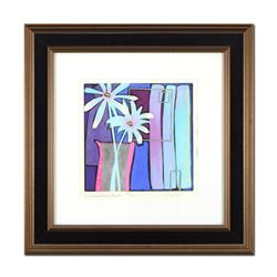 """Simon Bull, """"Summertime Blues"""" Framed Hand Colored Limited Edition Etching, Numbered and Hand Signed"""