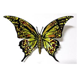 "Patricia Govezensky- Original Painting on Cutout Steel ""Butterfly CLXIV"""