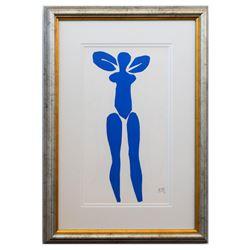"""Henri Matisse- Lithograph """"Verve - Nu bleu I"""""""