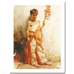 """Pino (1939-2010) """"The Young Peddler"""" Limited Edition Giclee. Numbered and Hand Signed; Certificate o"""