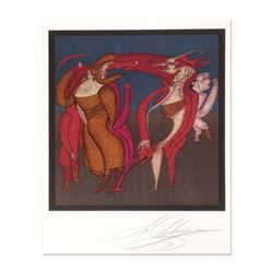 """Mihail Chemiakin - Carnival Series: """"Untitled 10"""" Limited Edition Lithograph, Numbered Hand Signed w"""