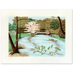 """Dorothea Travers, """"The Park"""" Limited Edition Lithograph, Numbered and Hand Signed by the Artist."""