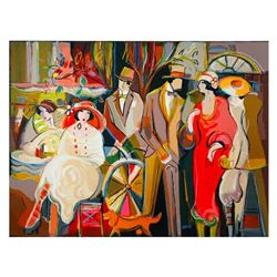 """Isaac Maimon, """"Charming Encounters"""" Limited Edition Serigraph, Numbered and Hand Signed with Letter"""