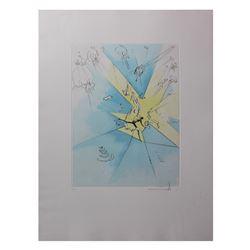 """Salvador Dali- Hand Colored Original Etching """"Un Entre Fracassant aux U.S.A"""""""