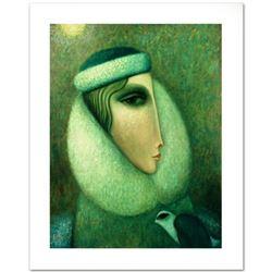"Legendary Russian Artist Sergey Smirnov (1953-2006). ""Alina"" Limited Edition Mixed Media on Canvas,"