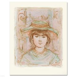 """""""January"""" Limited Edition Lithograph by Edna Hibel (1917-2014), Numbered and Hand Signed with Certif"""