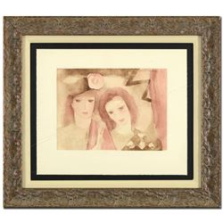 """Marie Laurencin (1883-1956), """"Two Women"""" Framed Lithograph, Plate Signed. (This piece had a retail p"""