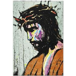 """""""Jesus"""" Limited Edition Giclee on Canvas by David Garibaldi, Numbered from Miniature Series and Sign"""