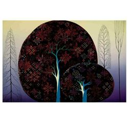 """Eyvind Earle (1916-2000), """"A Tree Poem"""" Limited Edition Serigraph on Paper; Numbered & Hand Signed;"""