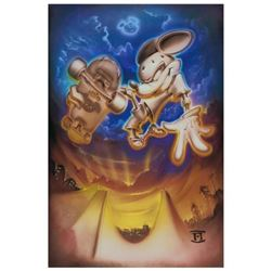 """Noah, """"Grind Mouse"""" Limited Edition Giclee on Canvas, Licensed by Disney Fine Art, Numbered and Hand"""