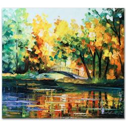 """Leonid Afremov (1955-2019) """"To Walk Alone"""" Limited Edition Giclee on Canvas, Numbered and Signed. Th"""