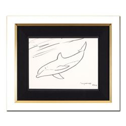 "Wyland- Original Sketch ""Dolphin"""