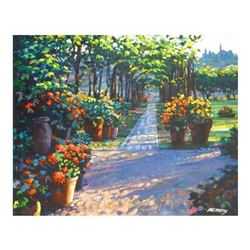"""Howard Behrens (1933-2014), """"Siena Arbor"""" Limited Edition on Canvas, Numbered and Signed with COA."""