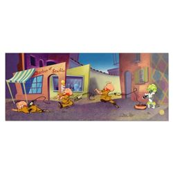 """Chuck Jones """"Rabbit Of Seville"""" Hand Signed, Hand Painted Limited Edition Sericel."""