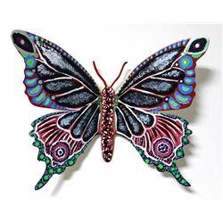 "Patricia Govezensky- Original Painting on Cutout Steel ""Butterfly CCXXXVIII"""