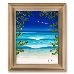 """Dan Mackin, """"Inspiration"""" Framed Original Oil Painting on Canvas Hand Signed with Letter of Authenti"""