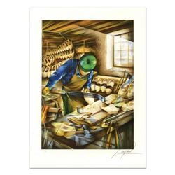 """Raymond Poulet, """"Shoemaker"""" Limited Edition Lithograph, Numbered and Hand Signed."""
