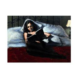 """Fabian Perez, """"Princess Diaries II"""" Hand Textured Limited Edition Giclee on Board. Hand Signed and N"""