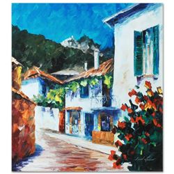 """Leonid Afremov (1955-2019) """"The Villa"""" Limited Edition Giclee on Canvas, Numbered and Signed. This p"""