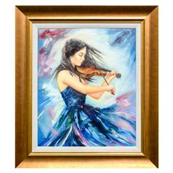 "Taras Sidan- Original Oil on Canvas ""Performance"""