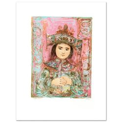 """Child of the East"" Limited Edition Lithograph by Edna Hibel (1917-2014), Numbered and Hand Signed w"