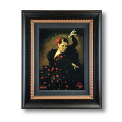 "Fabian Perez, ""Pasion Flamenca"" Framed Hand Textured Limited Edition Giclee on Board. Hand Signed an"