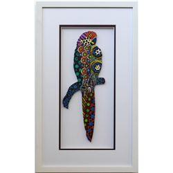 "Patricia Govezensky- Original Painting on Laser Cut Steel ""Moment of Peace"""