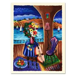 """Shlomo Alter, """"Spanish Guitar"""" Limited Edition Serigraph, Numbered and Hand Signed with Certificate"""