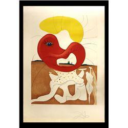 """Salvador Dali- Original Engravings with Lithographic Color """"Le sang du yin et le yang"""""""