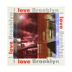 "Steve Kaufman (1960-2010), ""I Love Brooklyn"" Limited Edition Hand Pulled Silkscreen on Canvas, Numbe"