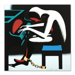 "Mark Kostabi, ""I Did It Steinway"" Limited Edition Serigraph, Numbered and Hand Signed with Certifica"