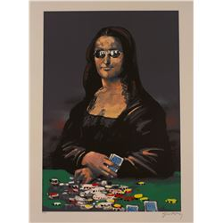"Waldemar Swierzy (1931-2013)- Hand Pulled Original Lithograph ""Poker face"""
