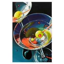 "Nobu Haihara, ""Two Martinis"" Limited Edition Canvas, Signed and with COA."